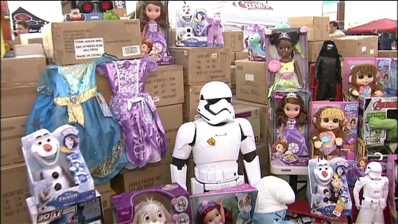 An undated photo of donated toys from the ABC7 Spark of Love toy drive.