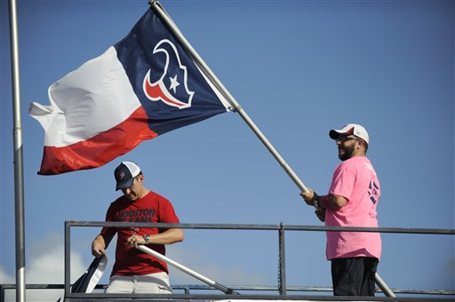 "<div class=""meta image-caption""><div class=""origin-logo origin-image ap""><span>AP</span></div><span class=""caption-text"">Fans set up flags at NRG stadium before an NFL football game between the Houston Texans and the Indianapolis Colts, Sunday, October, 16, 2016, in Houston. (Eric Christian Smith)</span></div>"