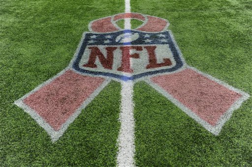 "<div class=""meta image-caption""><div class=""origin-logo origin-image ap""><span>AP</span></div><span class=""caption-text"">The NFL salutes Breast Cancer Awareness Month with ribbons painted on the field at NRG Stadium, Sunday, Oct. 16, 2016, in Houston. (Eric Christian Smith)</span></div>"