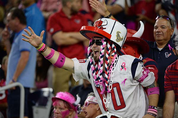 "<div class=""meta image-caption""><div class=""origin-logo origin-image ap""><span>AP</span></div><span class=""caption-text"">A Houston Texans fan cheers during the second half of an NFL football game against the Indianapolis Colts, Sunday, October, 16, 2016, in Houston. (AP Photo/George Bridges)</span></div>"