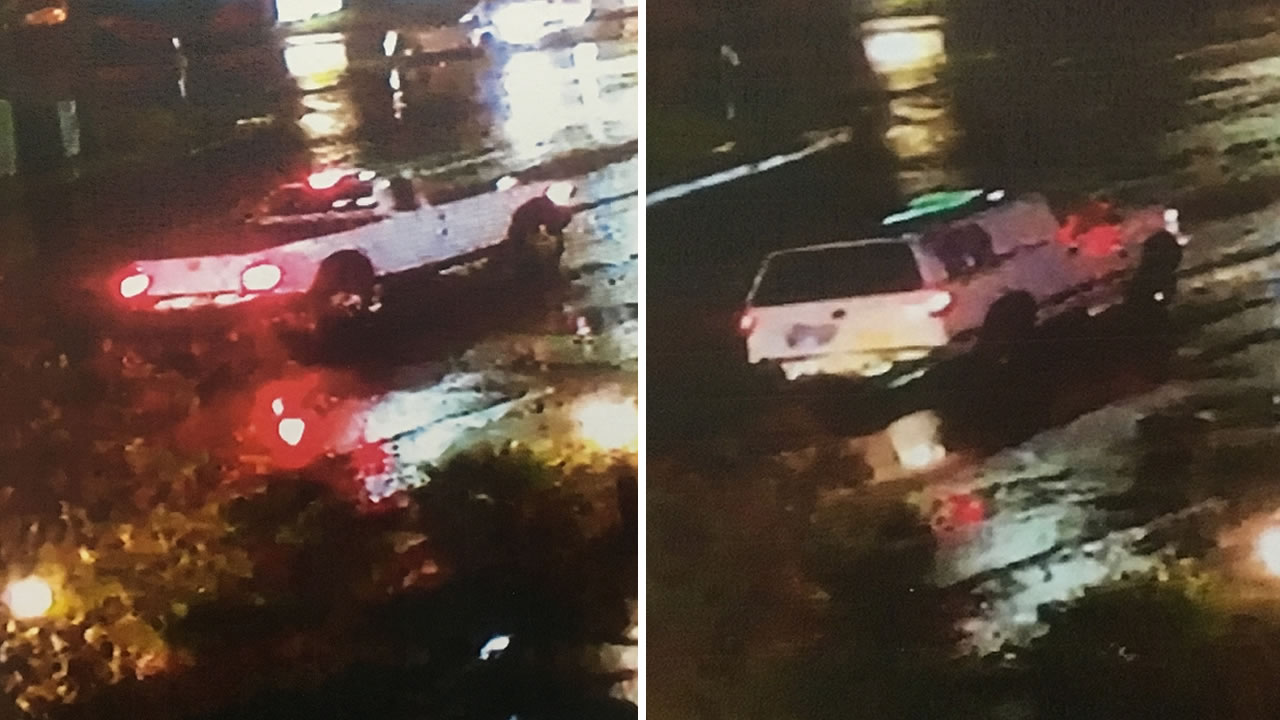 Detectives in San Mateo County need the public's help identifying two trucks at the scene of a deadly hit-and-run in Millbrae, Calif. on Saturday, Oct. 15, 2016.
