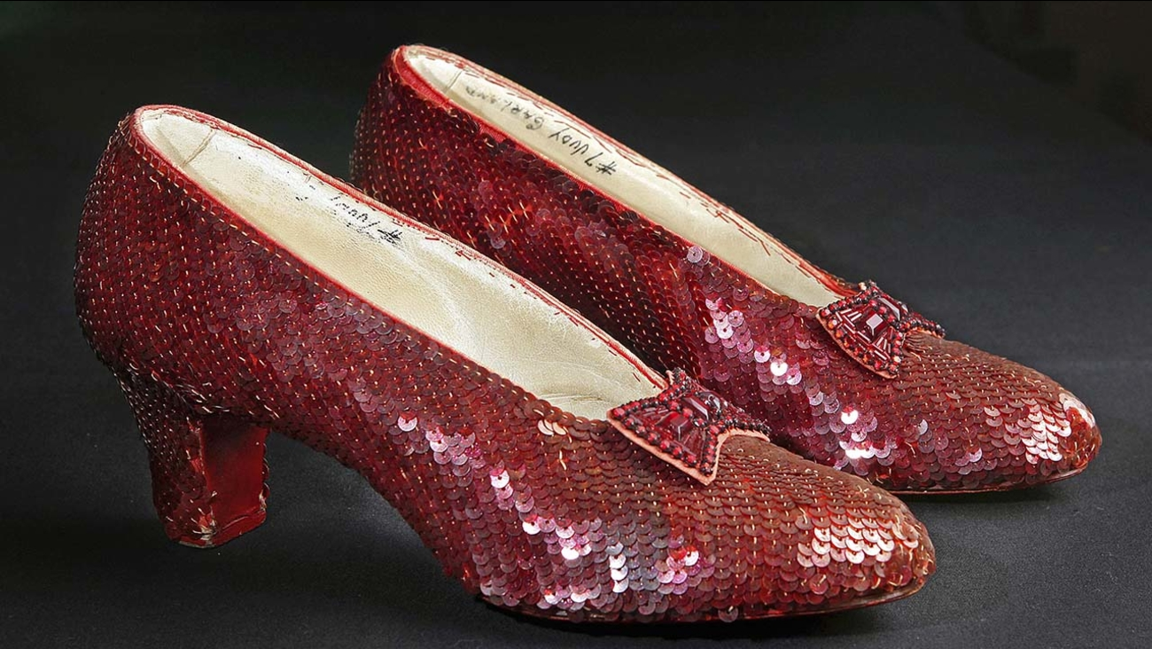 Ruby slippers Wizard of Oz