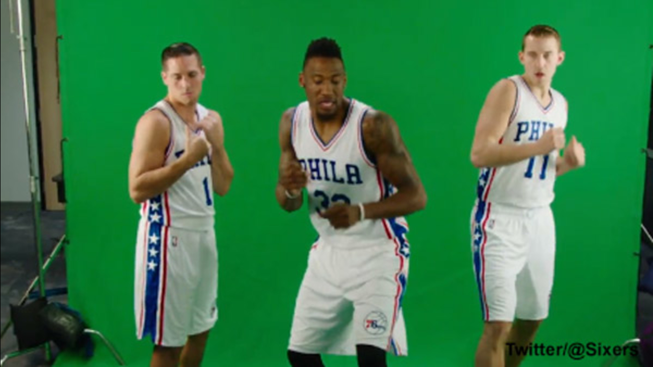 476ef45e3d01 Philadelphia 76ers dance to  Juju on that Beat