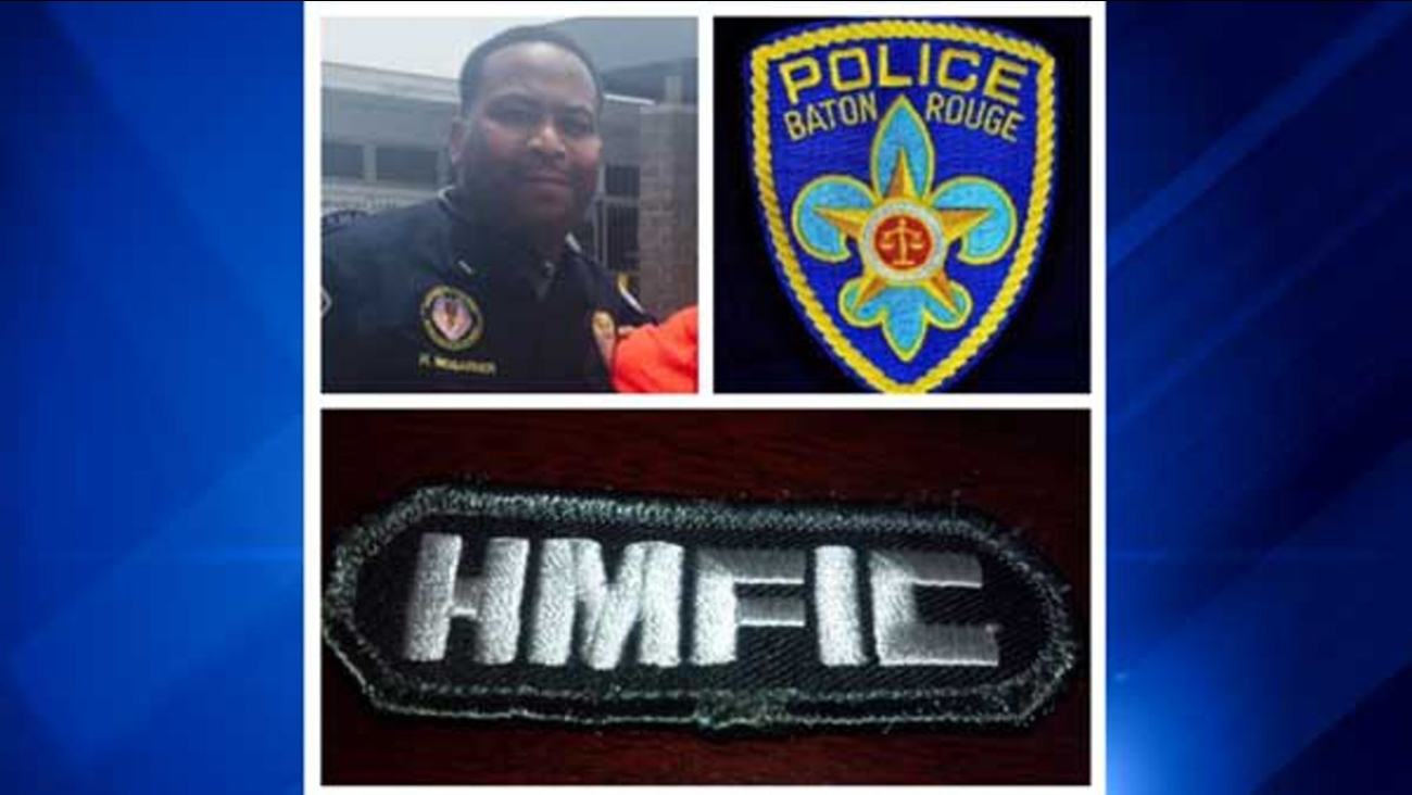 Headshot: Baton Rouge Police; patch photo: Lt. McGarner Facebook page