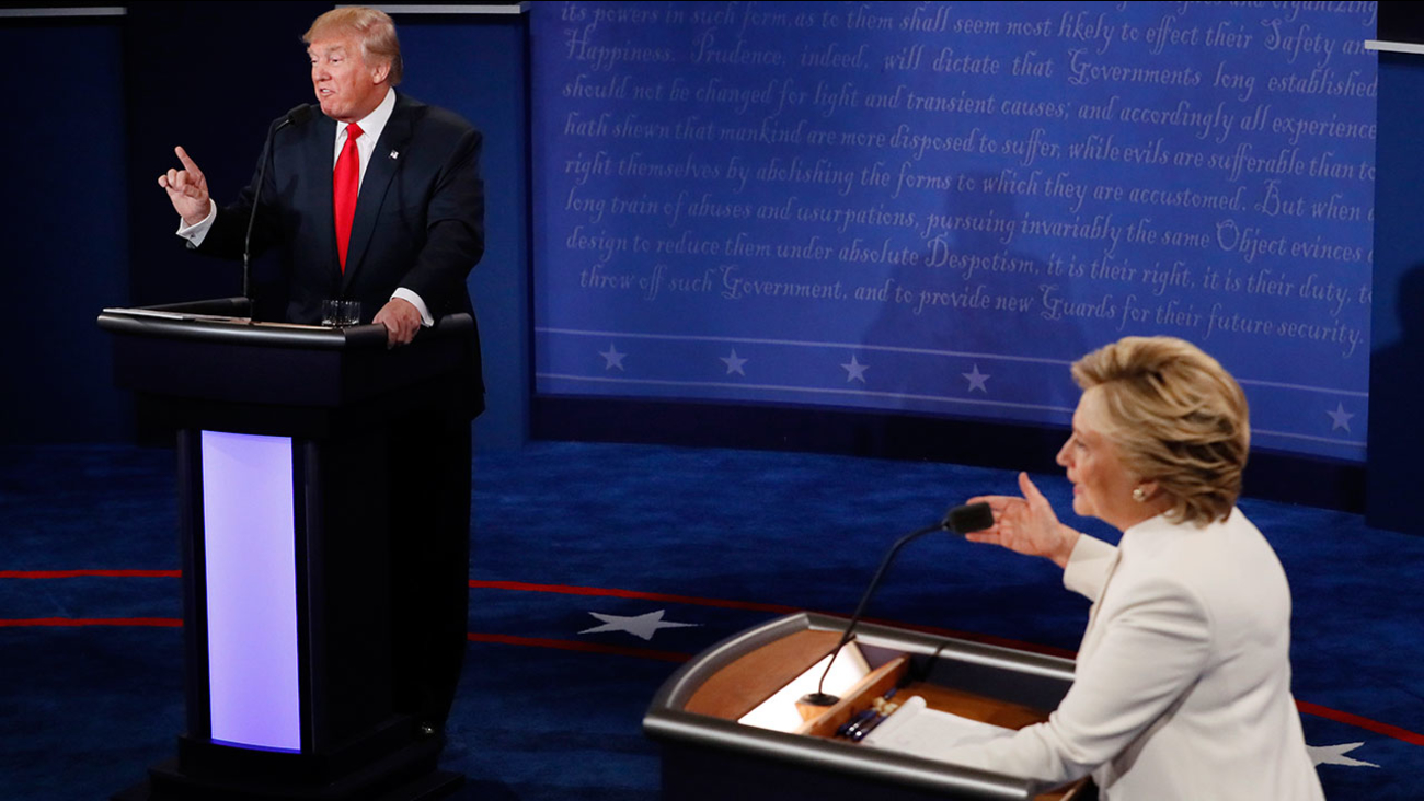 Donald Trump and Hillary Clinton meet for their third and final debate in Las Vegas on Wednesday, Oct. 19, 2016.