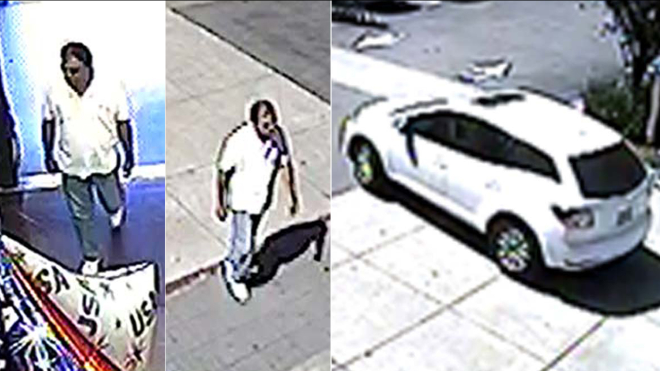 The Los Angeles Police Department released surveillance photos in connection with the robbery of a 92-year-old woman in Monterey Hills in July 2016.