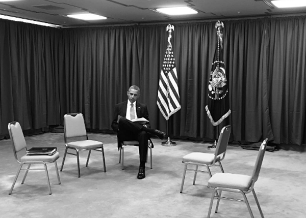 "<div class=""meta image-caption""><div class=""origin-logo origin-image none""><span>none</span></div><span class=""caption-text"">The president sitting alone during a break at the G7 Summit in Japan in 2016. (Pete Souza, Chief Official White House Photographer)</span></div>"