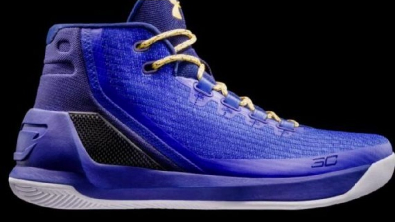 """Under Armour unveiled its latest version of Stephen Curry's signature shoes called """"Curry 3 Dub Nation Heritage"""" on Friday, Oct. 21, 2016."""