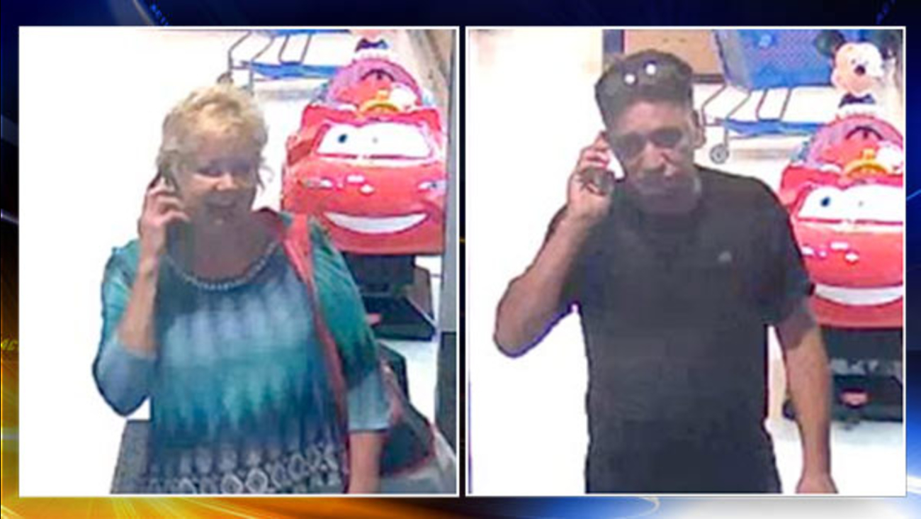 Couple sought in multi-state Toys R Us thefts