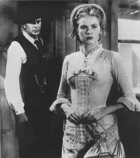 <div class='meta'><div class='origin-logo' data-origin='AP'></div><span class='caption-text' data-credit=''>This is a 1956 file photo of Grace Kelly and Gary Cooper in a scene of the film &#34;High Moon&#34;.</span></div>