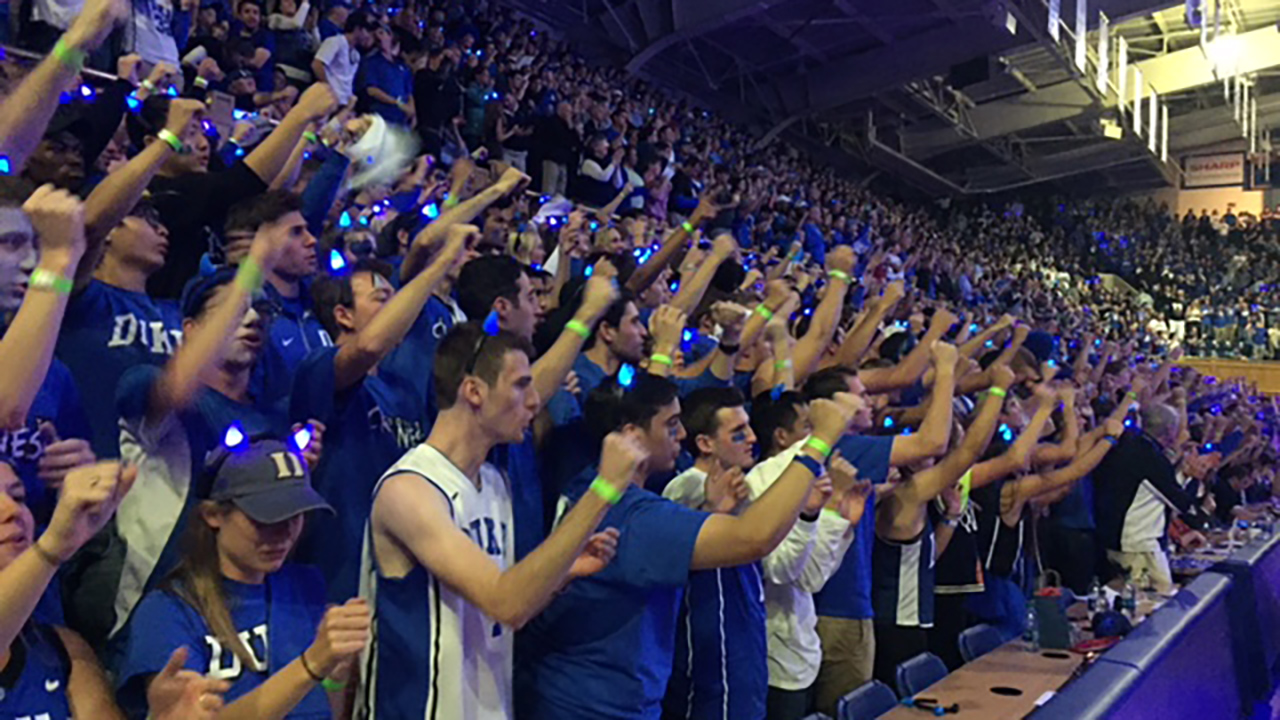 Photo from Duke's 'Countdown to Craziness'
