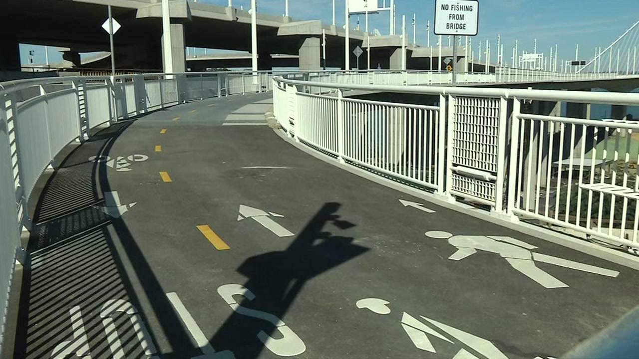 The bike and pedestrian path along the Bay Bridge is now open all the way to Treasure Island.