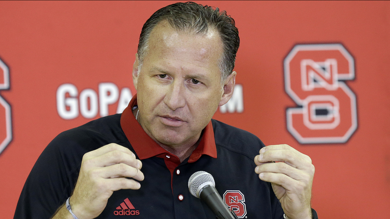 North Carolina State head coach Mark Gottfried speaks to members of the media during a NCAA college basketball team's media day in Raleigh, N.C.