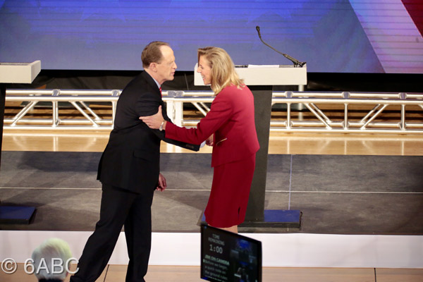 <div class='meta'><div class='origin-logo' data-origin='WPVI'></div><span class='caption-text' data-credit='Bob Watts'>Republican U.S. Sen. Pat Toomey and Democrat Katie McGinty plowed through a fast-paced, final debate.</span></div>