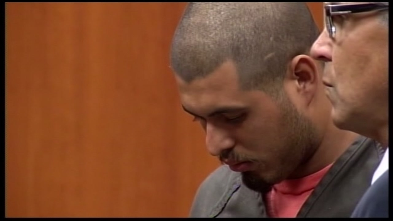 This undated image shows the murder suspect in the Sierra LaMar trial Antolin Garcia-Torresin a courtroom.