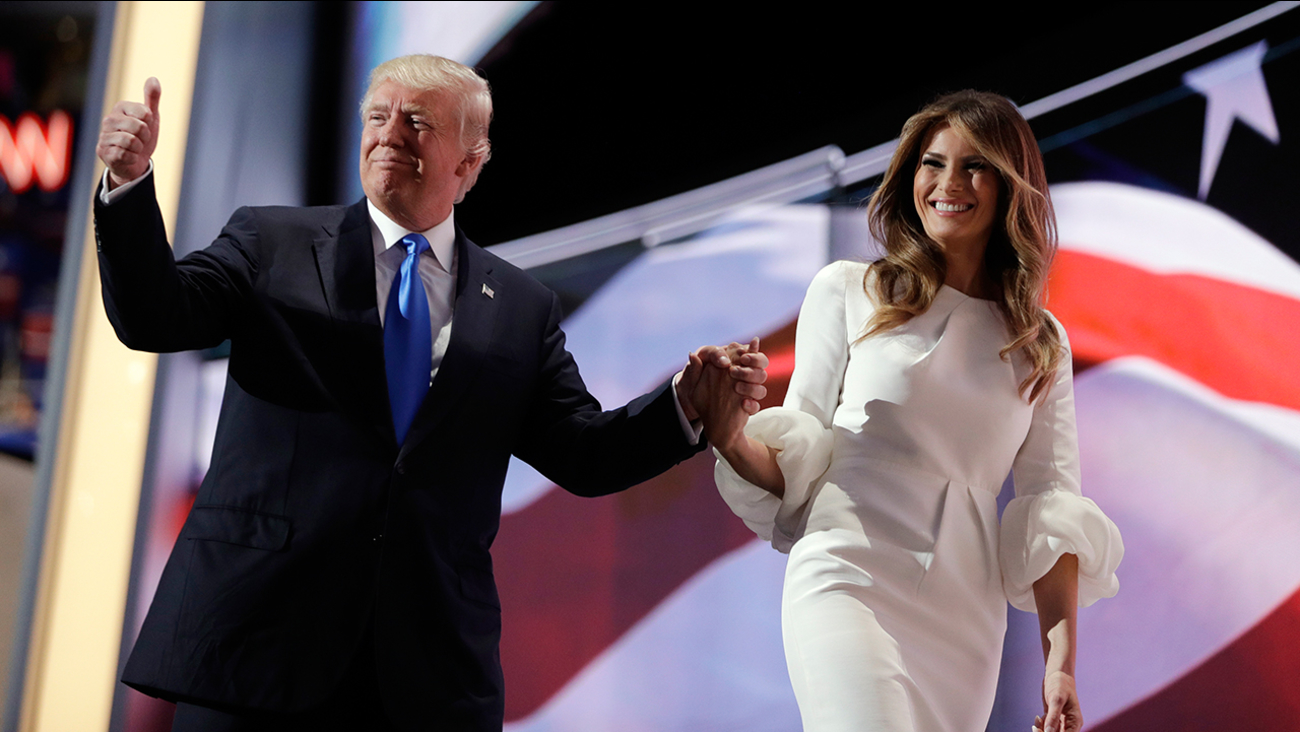 Image of Donald and Melania Trump