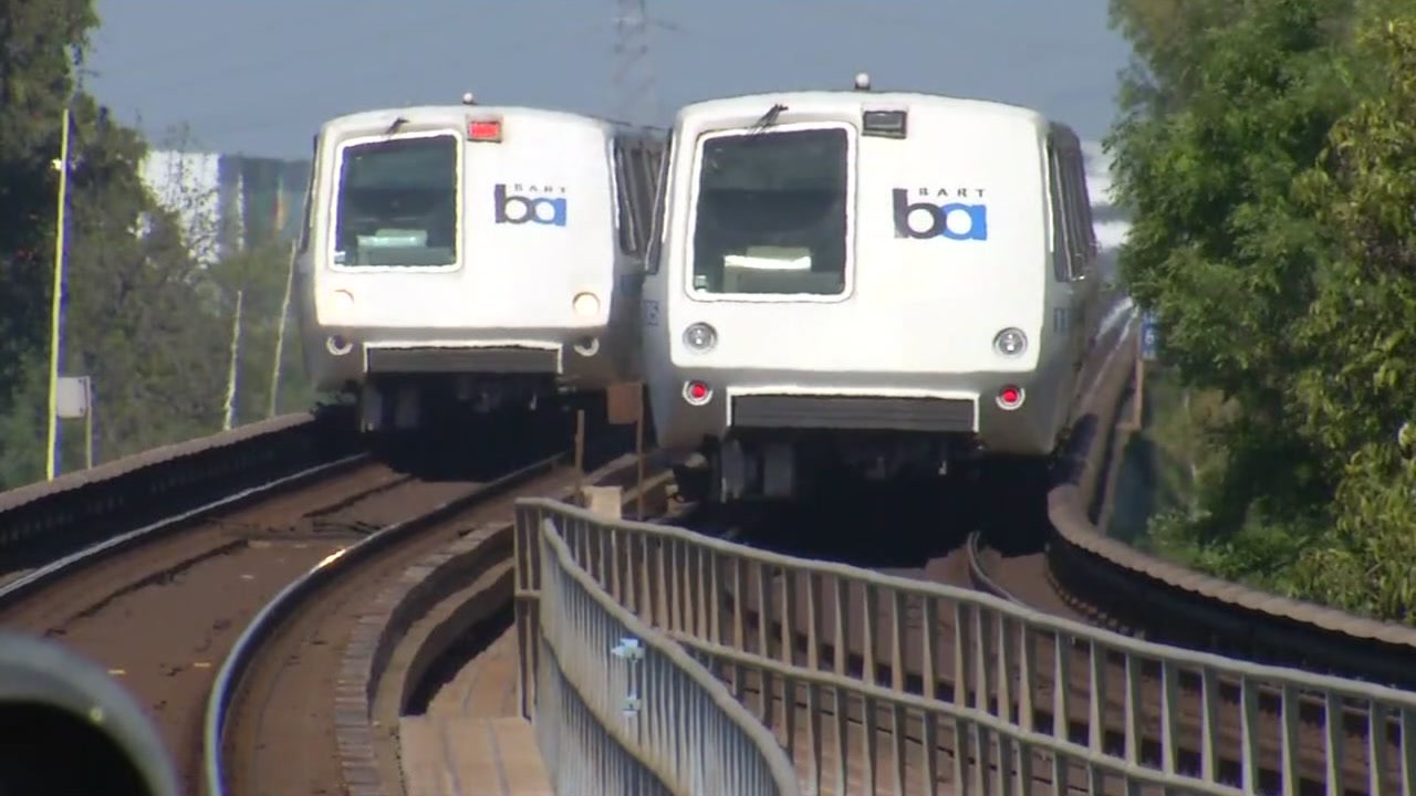 BART trains are seen in this undated image.
