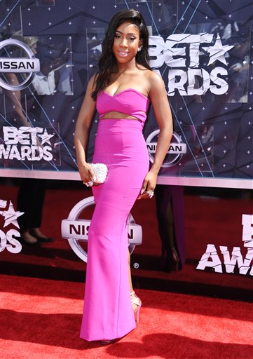 <div class='meta'><div class='origin-logo' data-origin='AP'></div><span class='caption-text' data-credit='Richard Shotwell/Invision/AP'>Sevyn Streeter arrives at the BET Awards at the Microsoft Theater on Sunday, June 28, 2015, in Los Angeles.</span></div>