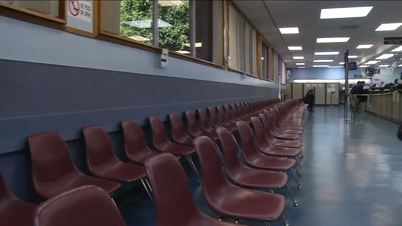 This image shows an empty DMV office in San Francisco after a statewide computer outage on Oct. 26, 2016.