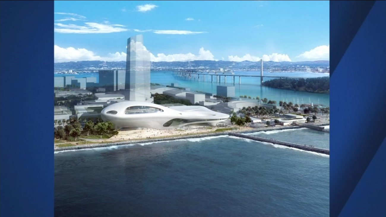 This is an undated concept sketch of the proposed George Lucas Museum of Narrative Art.