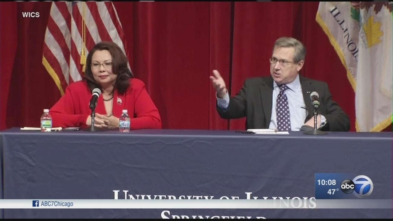 Kirk and Duckworth debate downstate