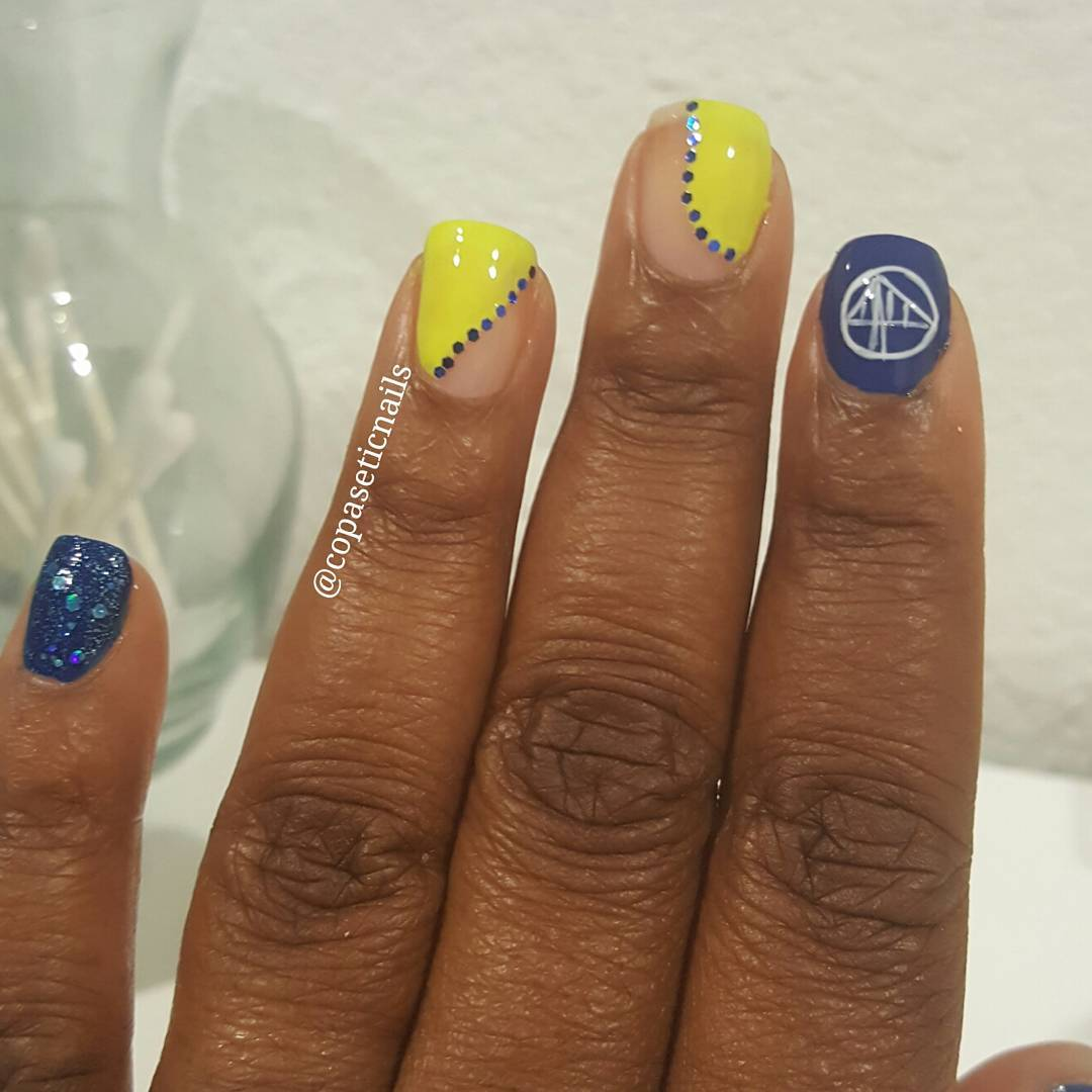 "<div class=""meta image-caption""><div class=""origin-logo origin-image none""><span>none</span></div><span class=""caption-text"">Warriors fans are showing their Golden State pride by sending their photos to ABC7 with #DubsOn7. Go Warriors! (@copaseticnails/Instagram)</span></div>"
