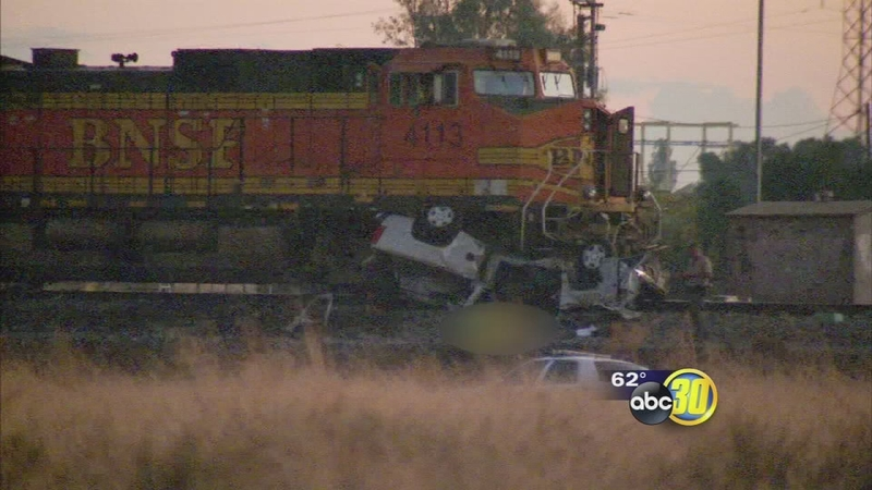 Woman dead after train crashes into truck near Madera