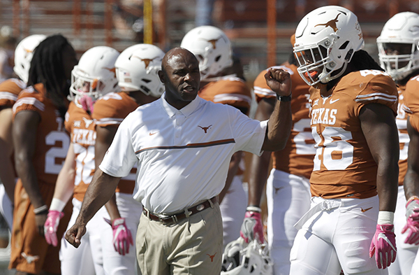 "<div class=""meta image-caption""><div class=""origin-logo origin-image ap""><span>AP</span></div><span class=""caption-text"">Texas head coach Charlie Strong before a NCAA college football game against Baylor, Saturday, Oct. 29, 2016, in Austin, Texas. (AP Photo/Eric Gay)</span></div>"