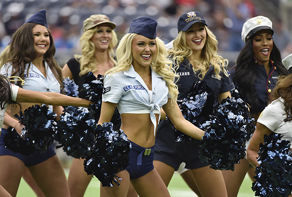 "<div class=""meta image-caption""><div class=""origin-logo origin-image ap""><span>AP</span></div><span class=""caption-text"">Houston Texans cheerleaders perform of an NFL football game between the Houston Texans and the Detroit Lions on Salute to Service day. (AP Photo/Eric Christian Smith)</span></div>"