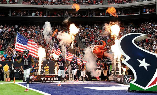 "<div class=""meta image-caption""><div class=""origin-logo origin-image ap""><span>AP</span></div><span class=""caption-text"">Houston Texans run on to the field as they celebrate Salute to Service day prior to an NFL football game. (AP Photo/Eric Christian Smith)</span></div>"