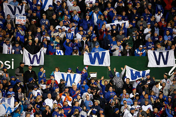 "<div class=""meta image-caption""><div class=""origin-logo origin-image none""><span>none</span></div><span class=""caption-text"">Chicago Cubs fans cheer after Game 5. (AP Photo/Nam Y. Huh)</span></div>"