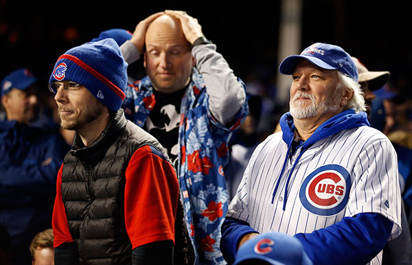 "<div class=""meta image-caption""><div class=""origin-logo origin-image none""><span>none</span></div><span class=""caption-text"">Chicago Cubs fans reacts during the eighth inning of Game 5. (AP Photo/Nam Y. Huh)</span></div>"