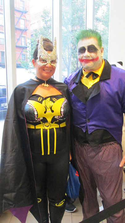 "<div class=""meta image-caption""><div class=""origin-logo origin-image none""><span>none</span></div><span class=""caption-text"">A couple dressed as Batgirl and the Joker are celebrating their anniversary with the ''Live with Kelly'' costume contest.</span></div>"