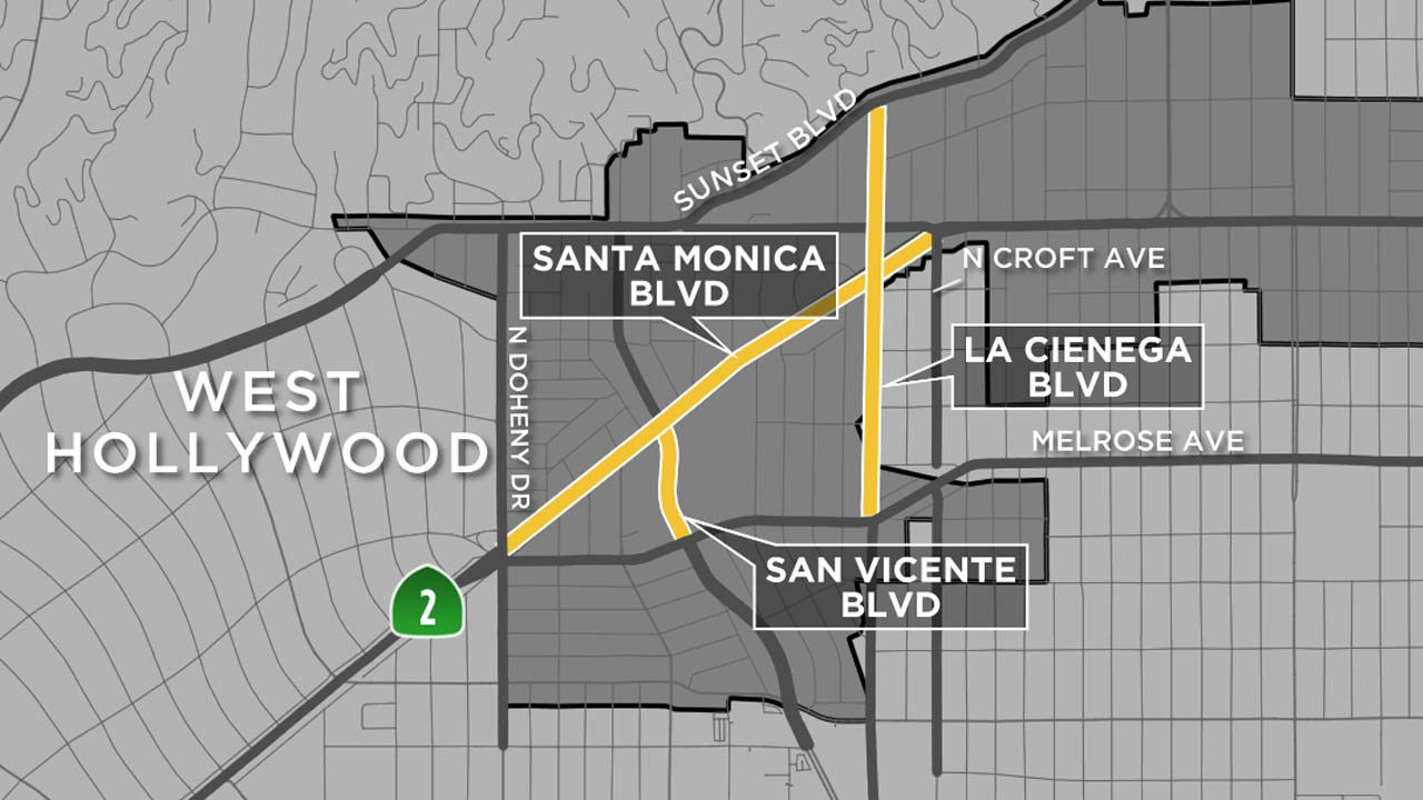 West Hollywood Halloween 2020 Street Closures West Hollywood Halloween Carnaval 2016 road closures | abc7.com
