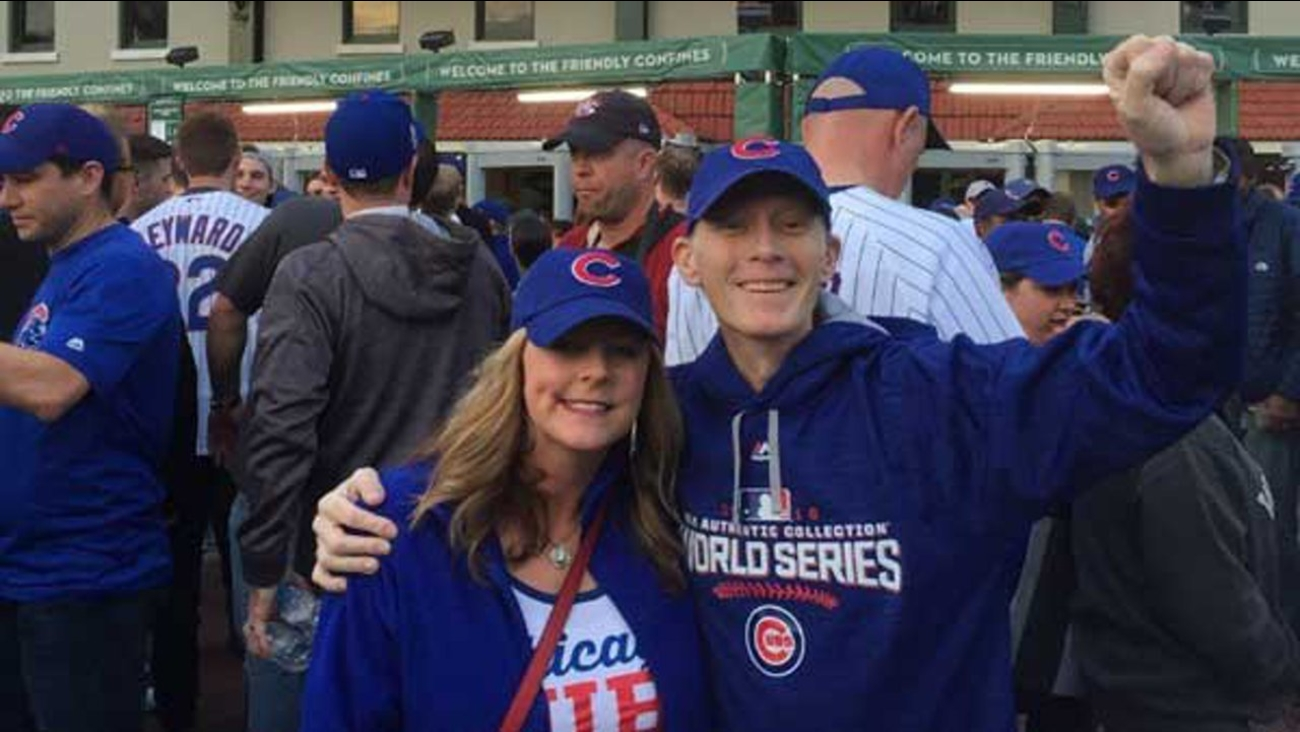 Like many Cubs fans, Blue Mhoon didn't know if he'd ever see his favorite team play in the World Series.