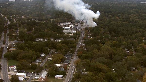 <div class='meta'><div class='origin-logo' data-origin='none'></div><span class='caption-text' data-credit=''>Chopper 11 HD overhead a fire on Poole Road</span></div>