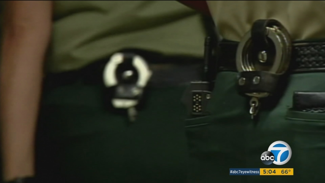 An undated photo of Los Angeles County Sheriff's Department uniforms.