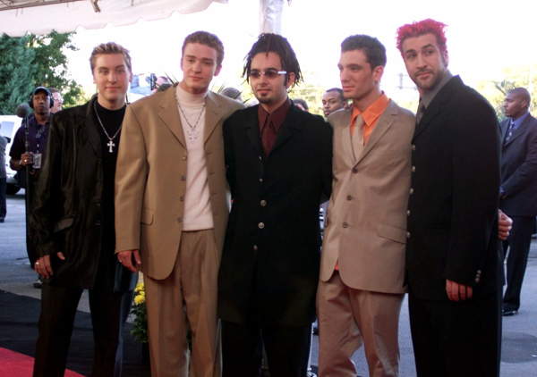 "<div class=""meta image-caption""><div class=""origin-logo origin-image none""><span>none</span></div><span class=""caption-text"">Pop group 'N Sync arrives for the Country Music Association Awards show in Nashville, Tenn., Wednesday, Sept. 22, 1999. (Michael S. Green/AP)</span></div>"