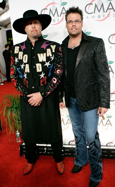 "<div class=""meta image-caption""><div class=""origin-logo origin-image none""><span>none</span></div><span class=""caption-text"">Eddie Montgomery and Troy Gentry of the duo Montgomery Gentry, nominated for vocal duo of the year, arrive for the 39th Annual CMA Awards in New York on Tuesday, Nov. 15, 2005. (Stuart Ramson/AP Photo)</span></div>"