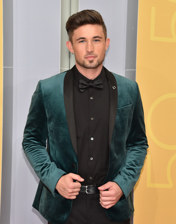 "<div class=""meta image-caption""><div class=""origin-logo origin-image none""><span>none</span></div><span class=""caption-text"">Michael Ray arrives at the 50th annual CMA Awards at the Bridgestone Arena on Wednesday, Nov. 2, 2016, in Nashville, Tenn. (Evan Agostini/Invision/AP)</span></div>"