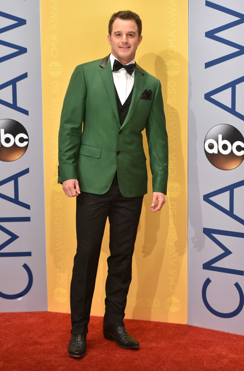 "<div class=""meta image-caption""><div class=""origin-logo origin-image none""><span>none</span></div><span class=""caption-text"">Easton Corbin arrives at the 50th annual CMA Awards at the Bridgestone Arena on Wednesday, Nov. 2, 2016, in Nashville, Tenn. (Evan Agostini/Invision/AP)</span></div>"