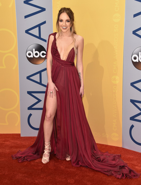 "<div class=""meta image-caption""><div class=""origin-logo origin-image none""><span>none</span></div><span class=""caption-text"">Danielle Bradbery arrives at the 50th annual CMA Awards at the Bridgestone Arena on Wednesday, Nov. 2, 2016, in Nashville, Tenn. (Evan Agostini/Invision/AP)</span></div>"