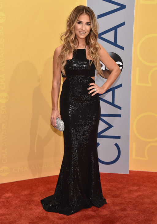 "<div class=""meta image-caption""><div class=""origin-logo origin-image none""><span>none</span></div><span class=""caption-text"">Jessie James Decker arrives at the 50th annual CMA Awards at the Bridgestone Arena on Wednesday, Nov. 2, 2016, in Nashville, Tenn. (Evan Agostini/Invision/AP)</span></div>"