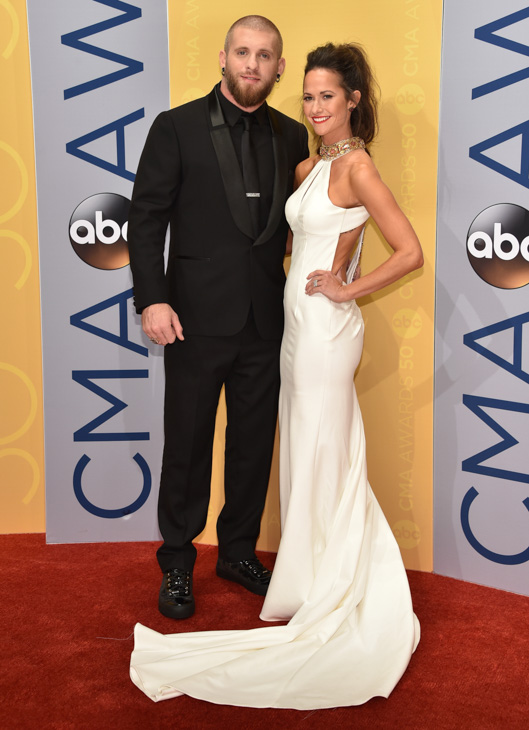"<div class=""meta image-caption""><div class=""origin-logo origin-image none""><span>none</span></div><span class=""caption-text"">Brantley Gilbert, left, and Amber Cochran arrive at the 50th annual CMA Awards at the Bridgestone Arena on Wednesday, Nov. 2, 2016, in Nashville, Tenn. (Evan Agostini/Invision/AP)</span></div>"