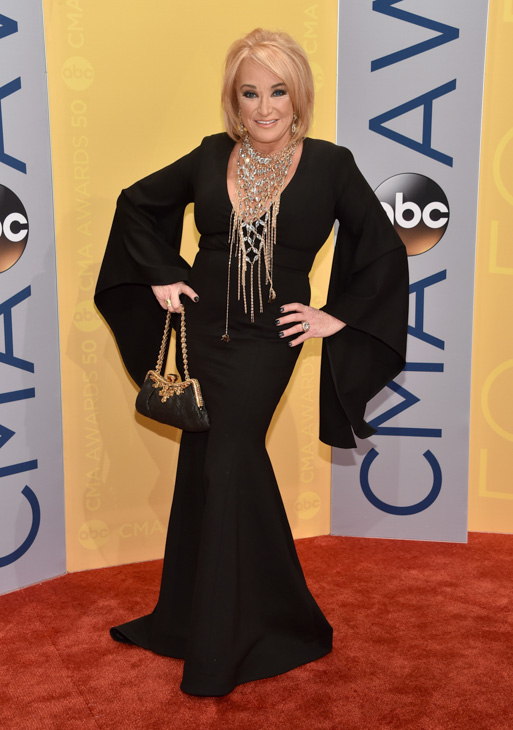 "<div class=""meta image-caption""><div class=""origin-logo origin-image none""><span>none</span></div><span class=""caption-text"">Tanya Tucker arrives at the 50th annual CMA Awards at the Bridgestone Arena on Wednesday, Nov. 2, 2016, in Nashville, Tenn. (Evan Agostini/Invision/AP)</span></div>"