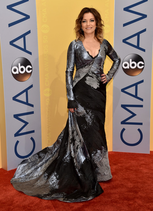"<div class=""meta image-caption""><div class=""origin-logo origin-image none""><span>none</span></div><span class=""caption-text"">Martina McBride arrives at the 50th annual CMA Awards at the Bridgestone Arena on Wednesday, Nov. 2, 2016, in Nashville, Tenn. (Evan Agostini/Invision/AP)</span></div>"