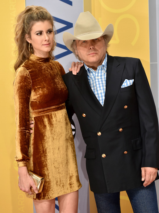 "<div class=""meta image-caption""><div class=""origin-logo origin-image none""><span>none</span></div><span class=""caption-text"">Emily Joyce, and Dwight Yoakam arrive at the 50th annual CMA Awards at the Bridgestone Arena on Wednesday, Nov. 2, 2016, in Nashville, Tenn. (Evan Agostini/Invision/AP)</span></div>"