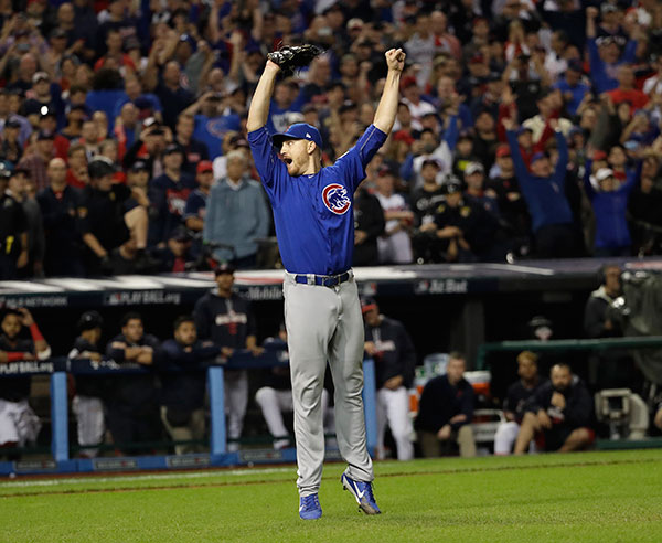 "<div class=""meta image-caption""><div class=""origin-logo origin-image none""><span>none</span></div><span class=""caption-text"">Chicago Cubs relief pitcher Mike Montgomery reacts after Game 7 of the Major League Baseball World Series against the Cleveland Indians. (AP Photo/David J. Phillip)</span></div>"