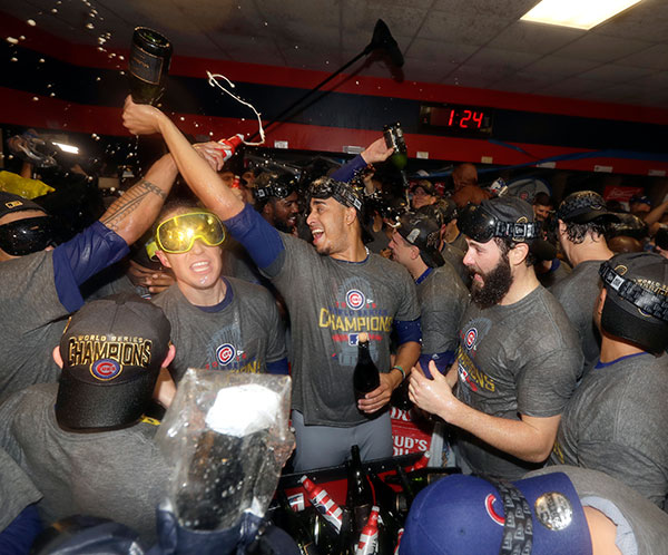 "<div class=""meta image-caption""><div class=""origin-logo origin-image none""><span>none</span></div><span class=""caption-text"">The Chicago Cubs celebrate after Game 7 of the Major League Baseball World Series. The Cubs won 8-7 in 10 innings to win the series 4-3. (AP Photo/David J. Phillip)</span></div>"