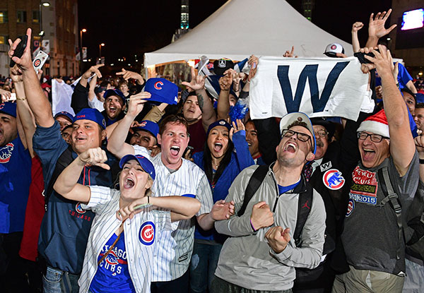 "<div class=""meta image-caption""><div class=""origin-logo origin-image none""><span>none</span></div><span class=""caption-text"">Chicago Cubs fans celebrate after Game 7 of the Major League Baseball World Series. The Cubs won 8-7 in 10 innings to win the series 4-3. (AP Photo/David Dermer)</span></div>"